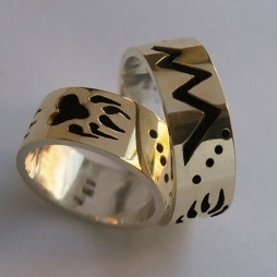 Anishinaabe style storyteller rings