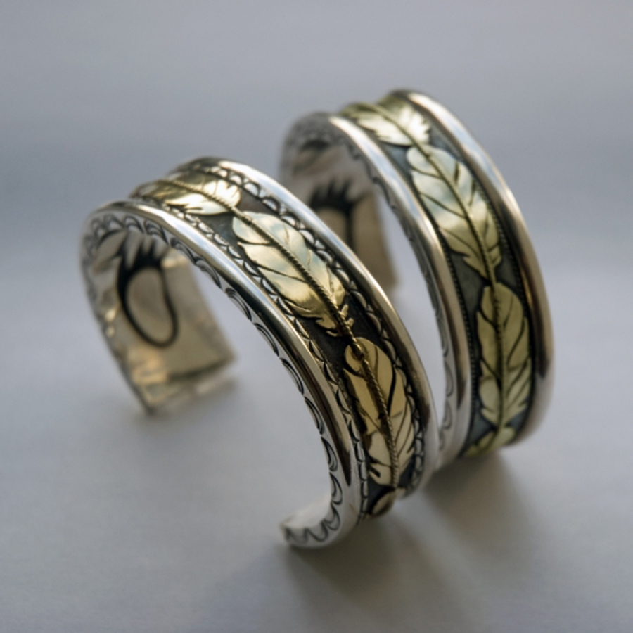 Wedding bracelets by Zhsaawano Giizhik