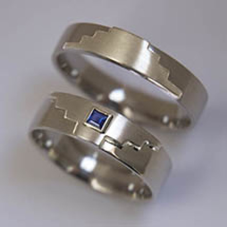 Native American wedding rings Power of Thunder