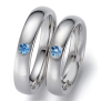 Native American palladium wedding rings Blue Night Sun