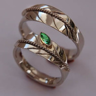 Native American white gold feather wedding rings Growth Is A Mystery