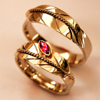 Native American eagle feather wedding rings A Flower Of Fire