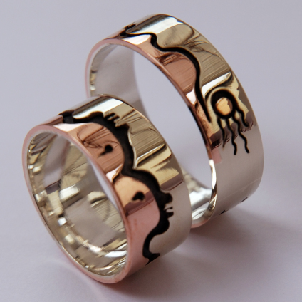 Gizhibaa Giizhig wedding rings slide show image