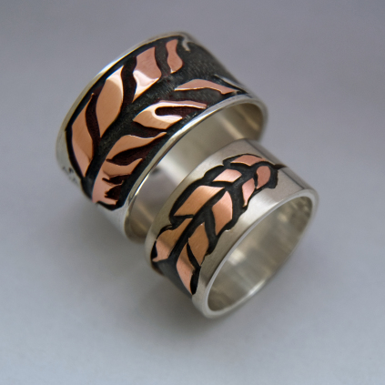 Binesiwag Ojibwe wedding rings