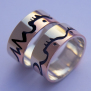 Anishinaabe wedding bands Heartbeat of Mother Earth
