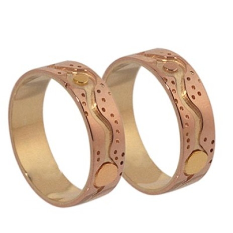 Anishinaabe style wedding rings Ninjichaag Onjigawi