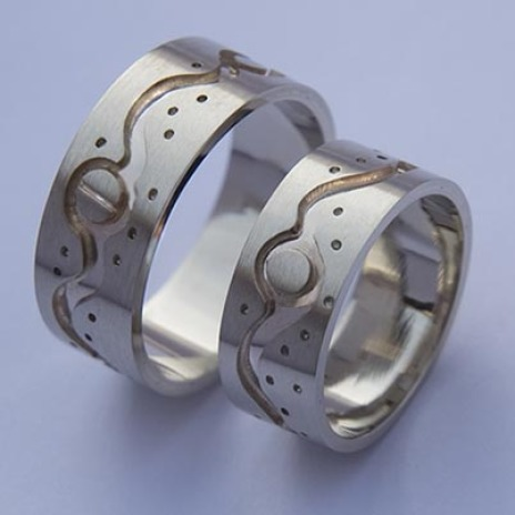 Wedding bands Our Love Is like A Moonlit River by Zhaawano