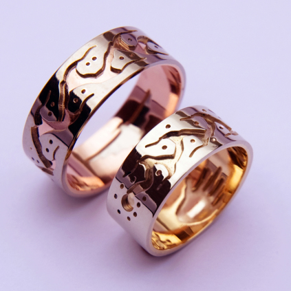 Anishinaabe Midewiwin Road wedding rings We Are Here!