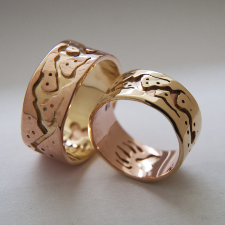 Follow the Bear Path Anishinaabe Midewiwin wedding rings