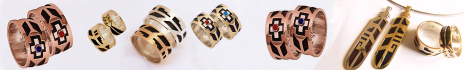 Courage Hopi wedding rings line slide show