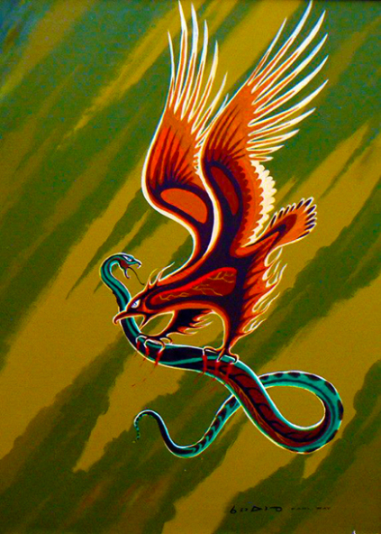 Thunderbird and Snake by Carl Ray