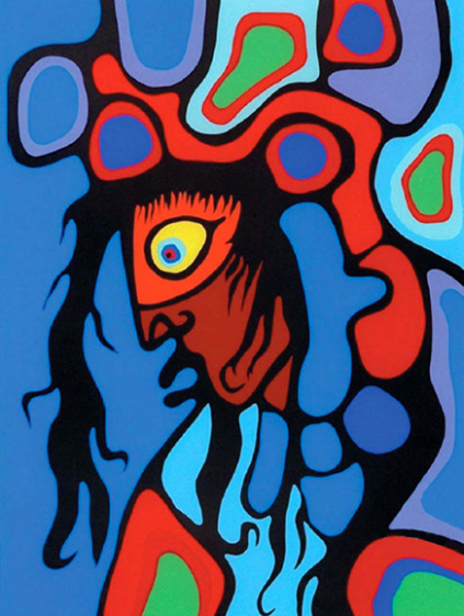 Child with Halo by Norval Morrisseau 1995