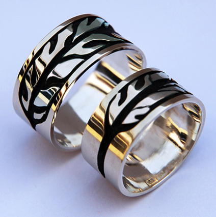 Vision Feather sterling silver eagle feather rings handcrafted by Zhaawano Giizhik