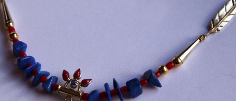 Detail of Spirit of the Three Fires necklace