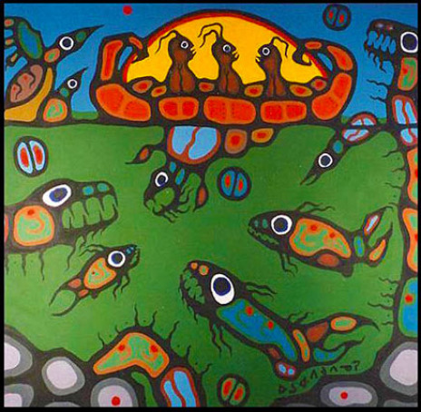 A blog story told by Zhaawano Giizhik about how to deal with loneliness and despair. Illustrated by Norval Morrisseau.