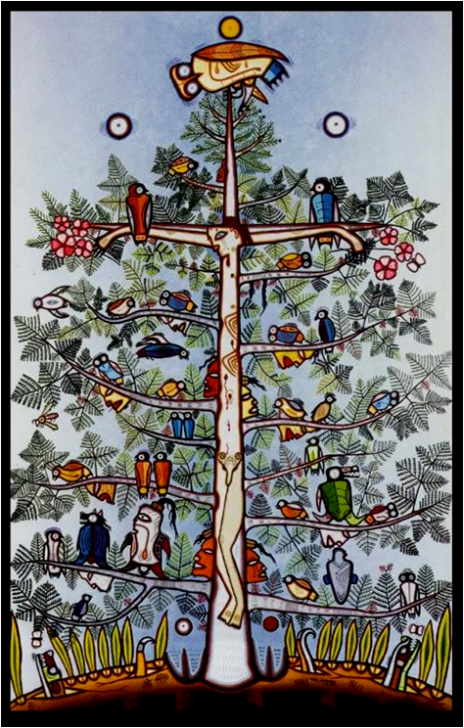 Illustration The Tree of Life by Blake Debassige