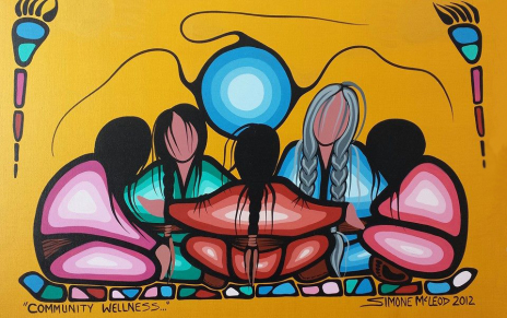 Community Wellness acrylic painting by Simone McLeod