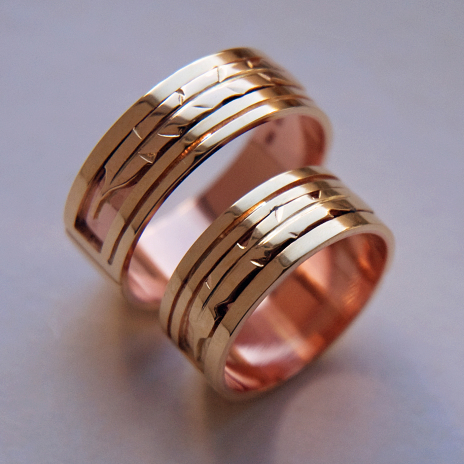 Native American wedding bands Touched by the Sun