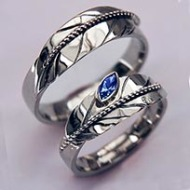 Seeing in a Spirit Way eagle feather wedding rings