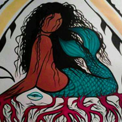 Simone McLeod Mermaid painting